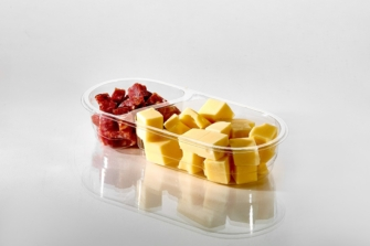 T14099 2 Cavity Chip Snack Pack Filled