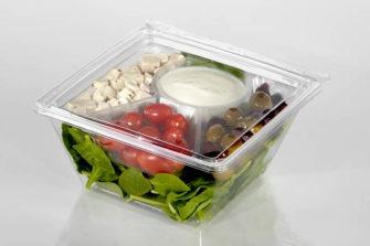 48 oz Square Salad Container