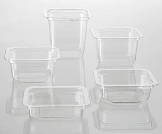 Plastic square container family