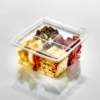 T24159 Square Cube 4 Comp Meats & Cheese