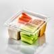 T24159 Square Cube 4 Comp Veggies & Dip 1