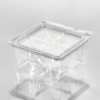 T24159 Square Cube 4 Compartment Empty