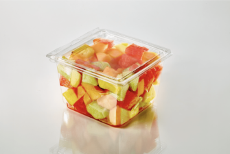 T25554 51 oz. 6 Square Bowl Fruit 2