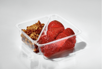 T28026 Insert 2-Compartment for Small Square Bowls